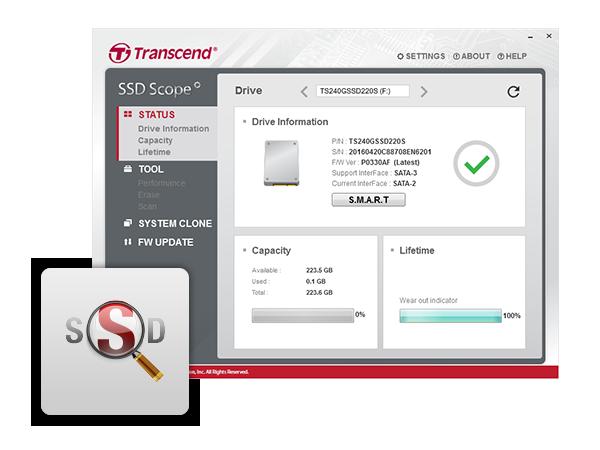 """Transcend Solid State Drive (SSD )64GB SSD370 2 5"""" SATA3 6Gb"""